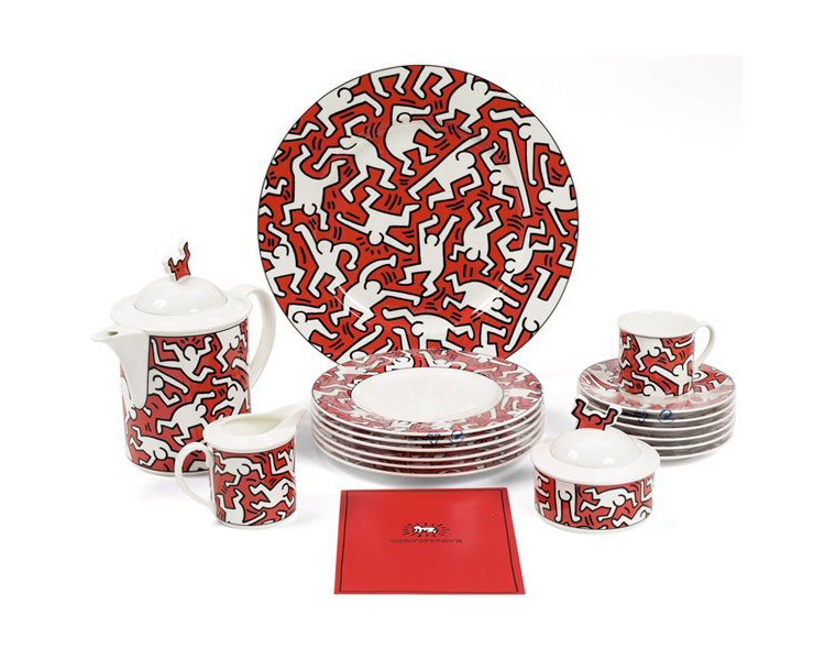 Keith Haring china, by Villeroy & Boch, 1991, limited edition.