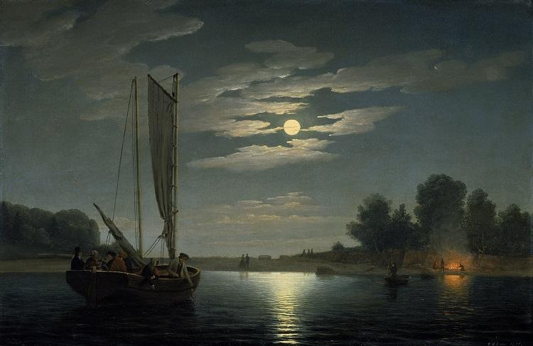 Fitz Hugh Lane, Pesca notturna, 1850 - Boston, Museum of Fine Arts