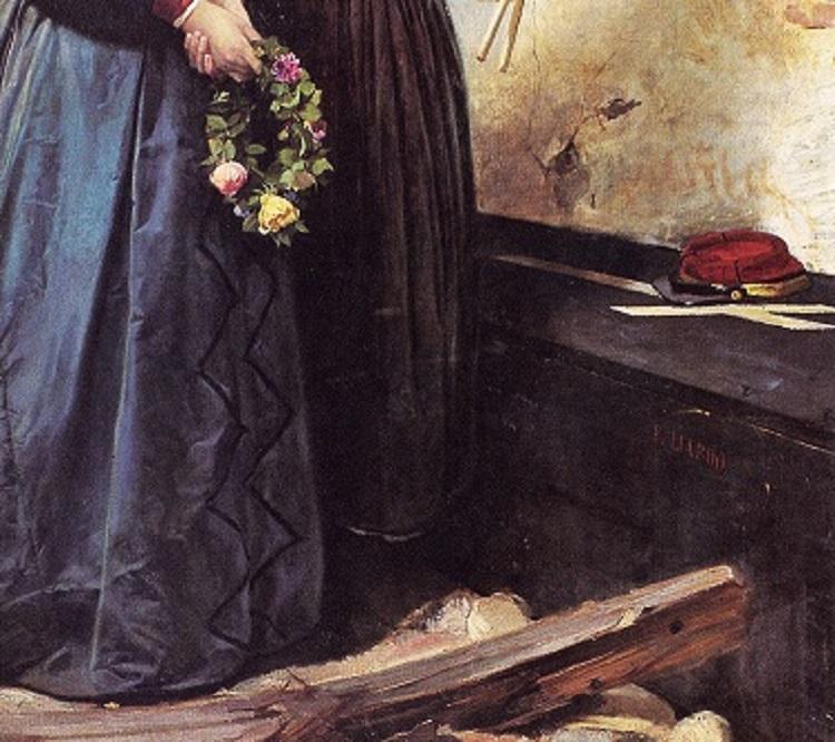 LIARDO, La sepoltura di un garibaldino, scena del bombardamento di Palermo del 1860-62, dettaglio