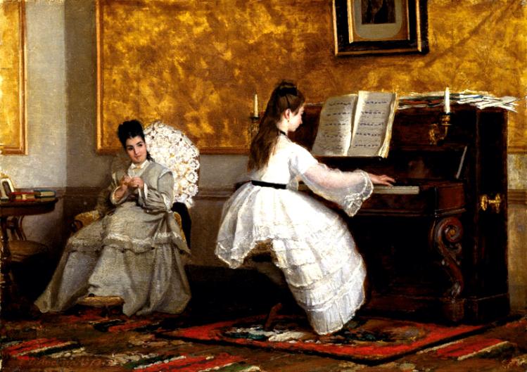 Lezione di pianoforte | d'Ancona | mostre Roma