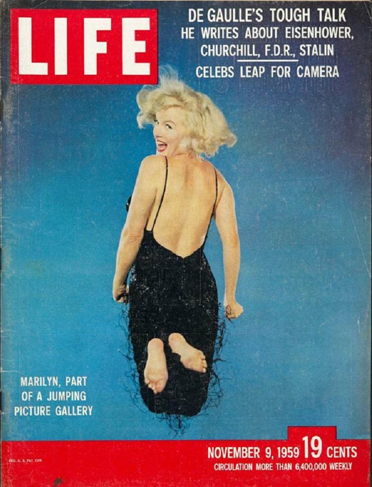 Marilyn Monroe jumping-by Philippe-Halsman-November 9 1959
