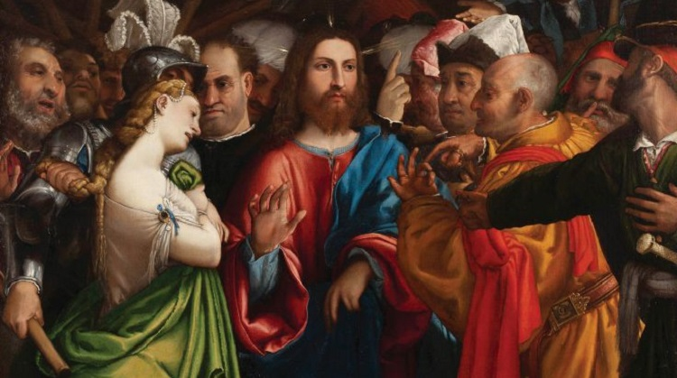Lorenzo Lotto_Cristo e l'adultera