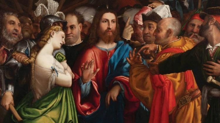Lorenzo Lotto_Cristo e l'adultera