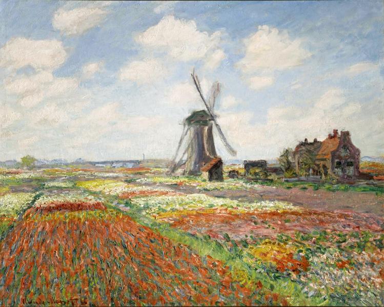 Campo di tulipani in Olanda | Monet | mostre a Torino