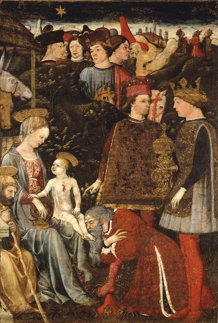 Bonifacio Bembo, Trittico, Adorazione dei Magi (pala laterale) olio su tavola. Denver Art Museum