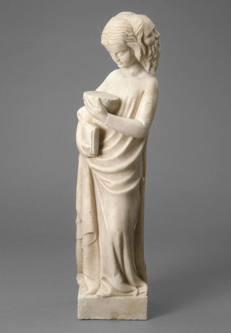 Bonino da Campione, Prudenza (1360-1370 circa) marmo, 67,7x19,1x15,2 cm. Washington, National Gallery of Art, Samuel H. Kress Collection
