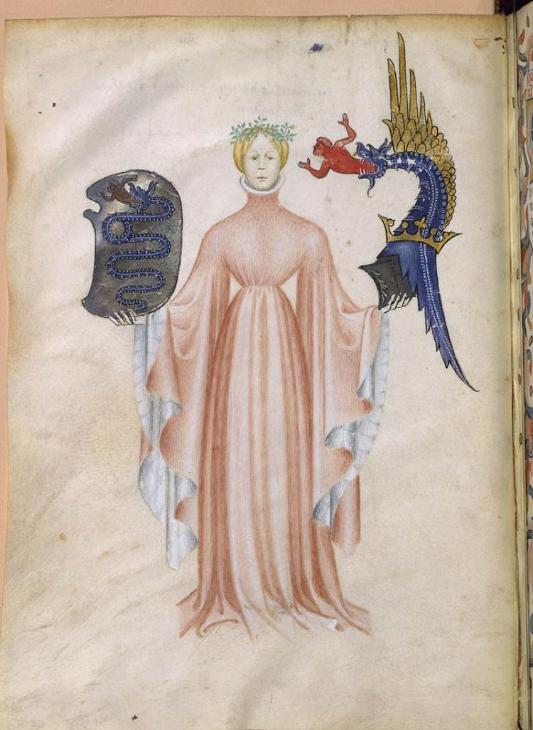 Maestro del De Natura Deorum, Cicerone, De Natura Deorum (1400-1402) manoscritto; 30 x 23 x 3 cm. Parigi, Bibliothèque Nationale de France