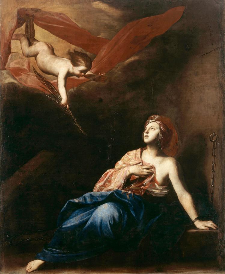 Massimo Stanzione, Sant'Agata in carcere. Museo Nazionale di Capodimonte.