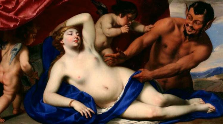 Pacecco de Rosa, Venere dormiente con satiro. Museo Nazionale di Capodimonte.