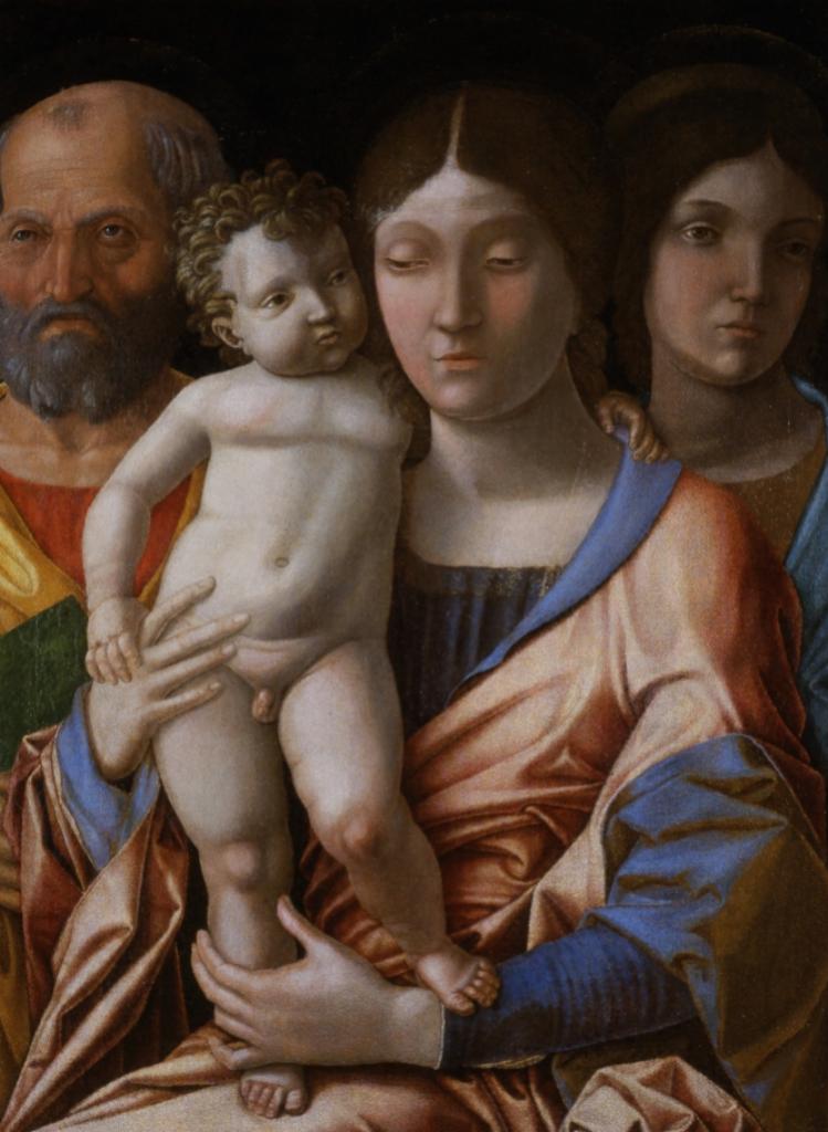 Andrea Mantegna | Sacra Famiglia con una santa | Museo Castelvecchio Verona