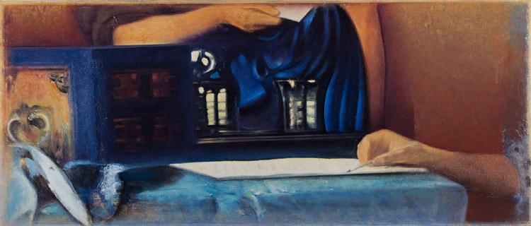 POLIZZI_009.jpg Franco Polizzi, Traduzione di Fantesca che porge una lettera alla signora di Vermeer, 2013