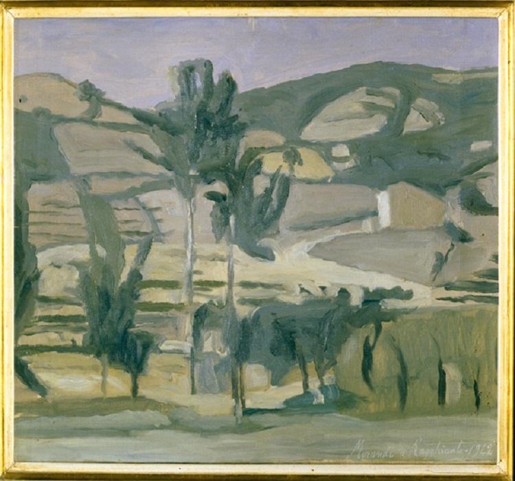 Giorgio Morandi  (Bologna 1890-1964)Paesaggio a Grizzana 1942