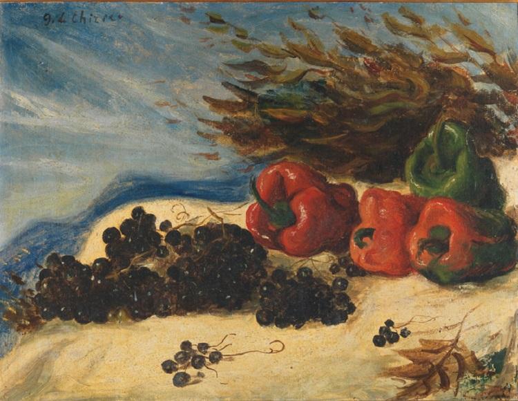 Giorgio De Chirico  (Volos, Tessaglia 1888-Roma 1978) Natura morta  1930 circa