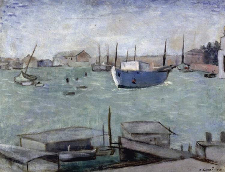 Carlo Carrà (Quargento 1881-Milano 1966) Laguna. 1932
