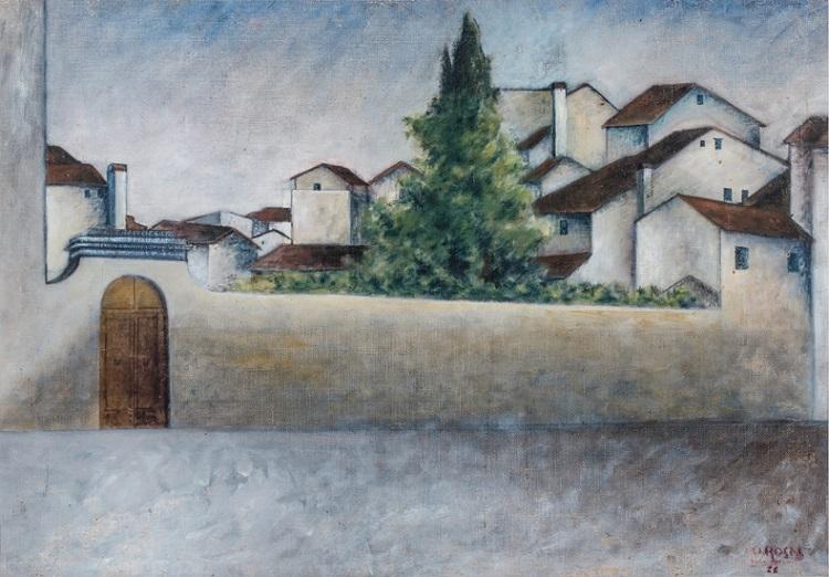 Ottone Rosai (Firenze 1895-Ivrea 1957) Piazza del Carmine 1922
