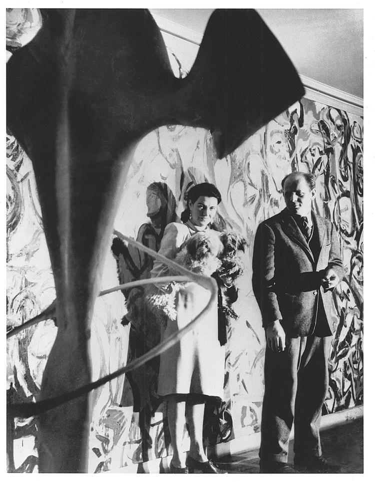 Peggy Guggenheim con Jackson Pollock