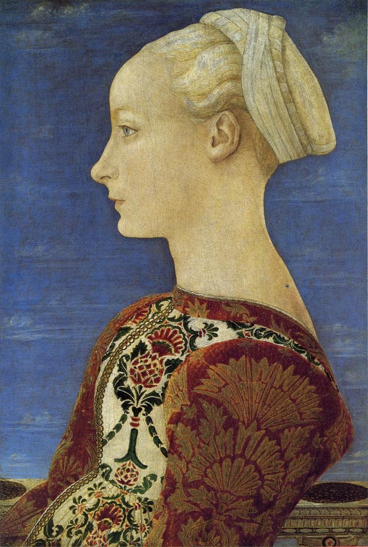 Piero del Pollaiolo Ritratto di giovane donna Berlino Gemaldegalerie
