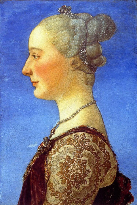 Piero del Pollaiolo Ritratto di giovane donna Firenze Uffizi