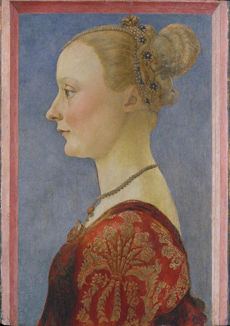 Piero del Pollaiolo Ritratto di giovane donna New York Metropolitan Museum