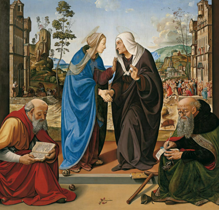 Piero di Cosimo (Firenze 1462 – 1522) La Visitazione con i santi Nicola di Bari e Antonio abate 1489-1490 circa Tavola Washington, D.C., National Gallery of Art, Samuel H. Kress Collection