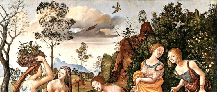 Piero di Cosimo (Firenze 1462 – 1522) Il ritrovamento di Vulcano 1487-1490 circa Tela Hartford (CT), Wadsworth Atheneum Museum of Art, The Ella Gallup Sumner and Mary Catlin Summer Collection