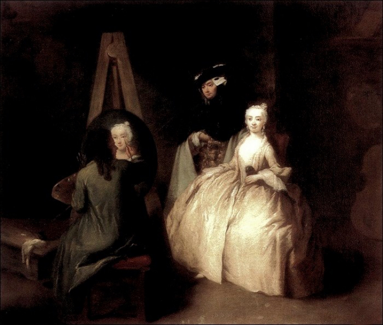 "Pietro Longhi (1701-1785), ""The painter in the atelier/Il pittore nello studio"" 1740-1745. Ca' Rezzonico, Venezia."
