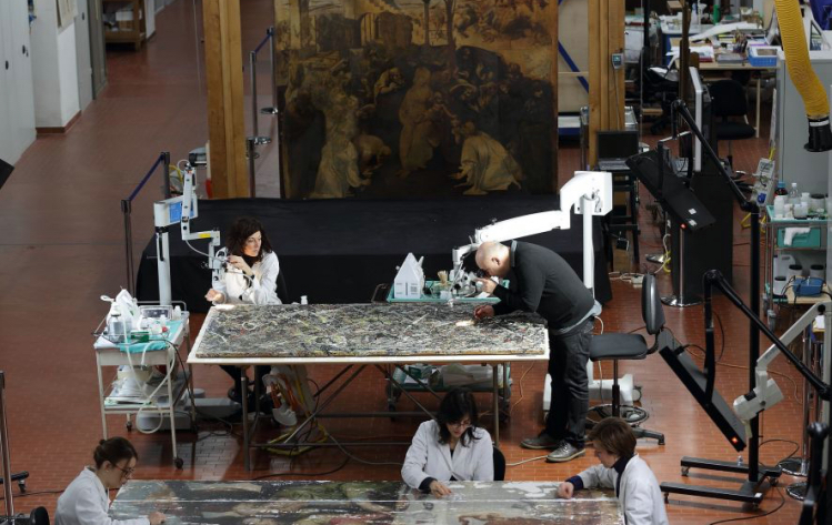 Pollock restauro Guggenheim