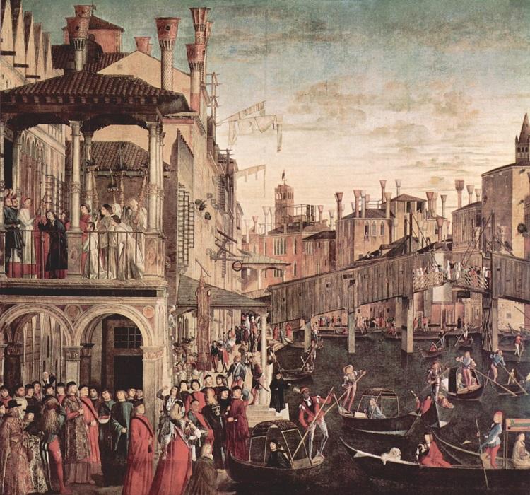 """""""Miracolo della Croce a Rialto"""" Vittore Carpaccio (1494). Gallerie dell'Accademia"""