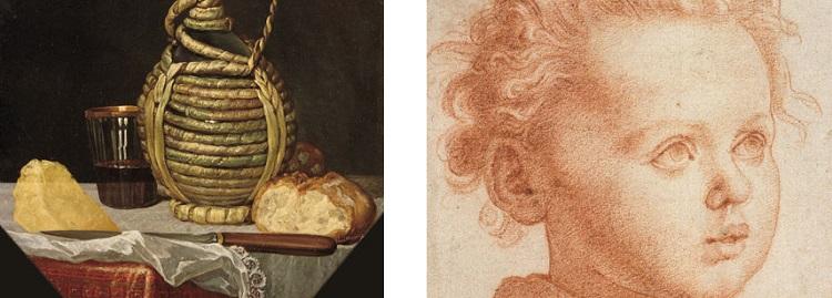 Natura morta con fiasco (1650)