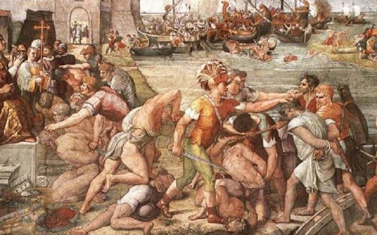 Raffaello, La Battaglia di Ostia, (1515)