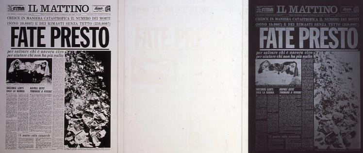 Andy Warhol, Fate Presto. Reggia di Caserta.