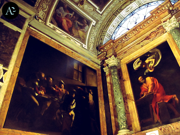 Vocazione di San Matteo   San Matteo e l'angelo   Chiesa a San Luigi dei Francesi   Chiese di Roma