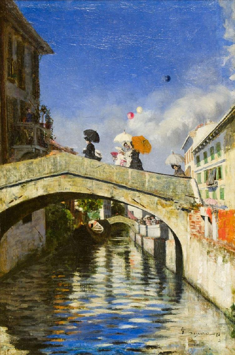 Segantini Il Naviglio a Ponte San Marco