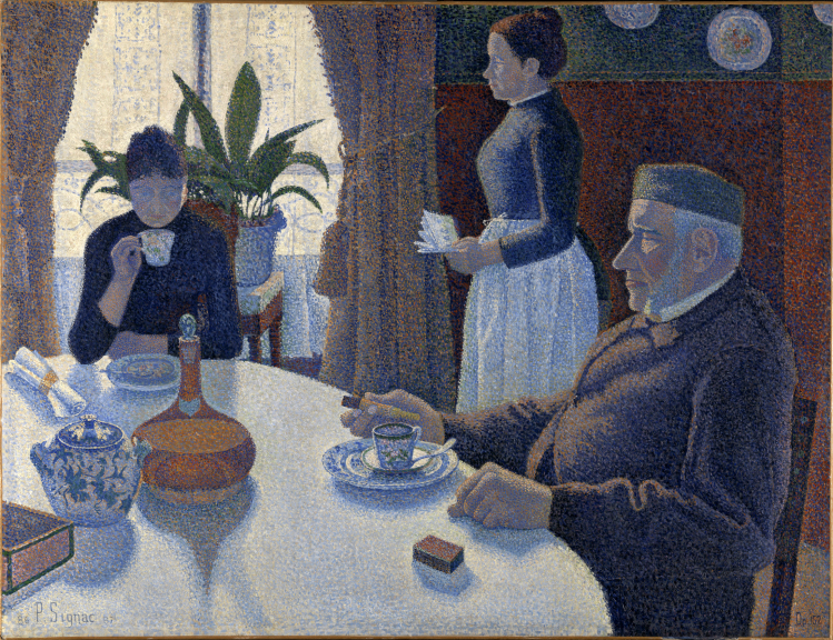 La sala da pranzo | Paul Signac | post Impressionismo
