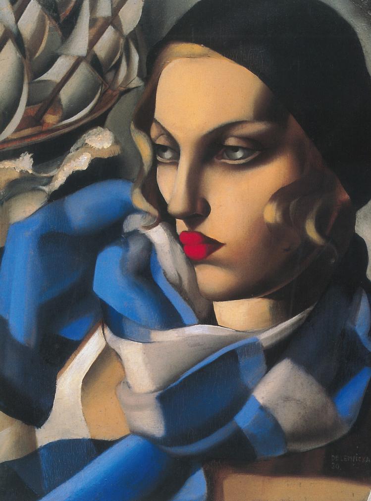 La sciarpa blu | Tamara de Lempicka | mostre Verona