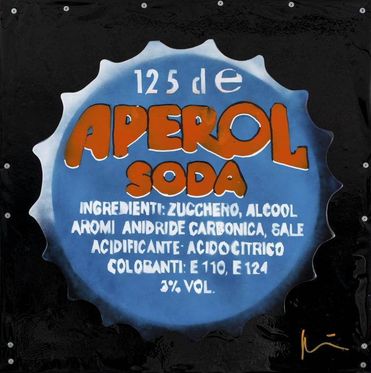 """Marcello Reboani, """"Aperol Soda"""" (2015). Foto Giorgio Benni"""