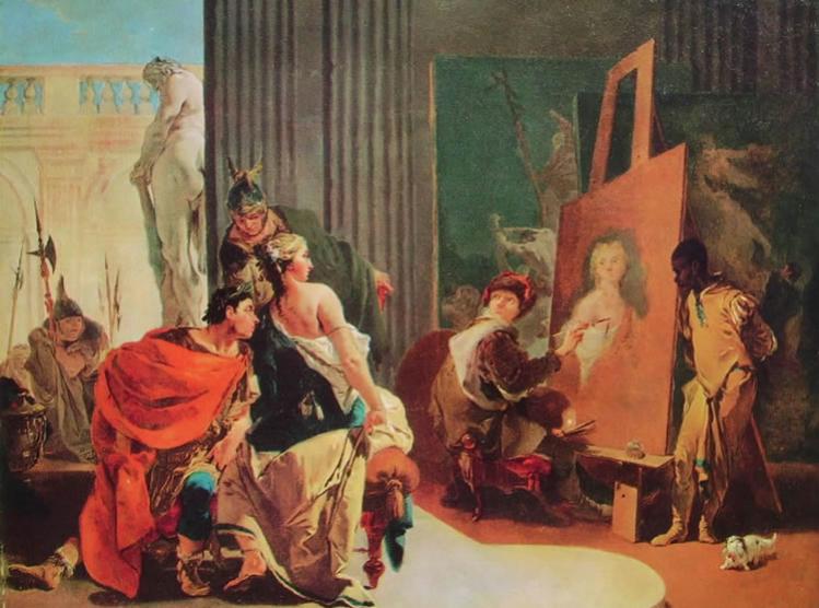 Alessandro e Campaspe nello studio di Apelle. Museum of Fine Arts, Montreal.