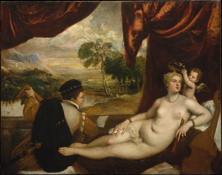 Venere e suonatore di liuto