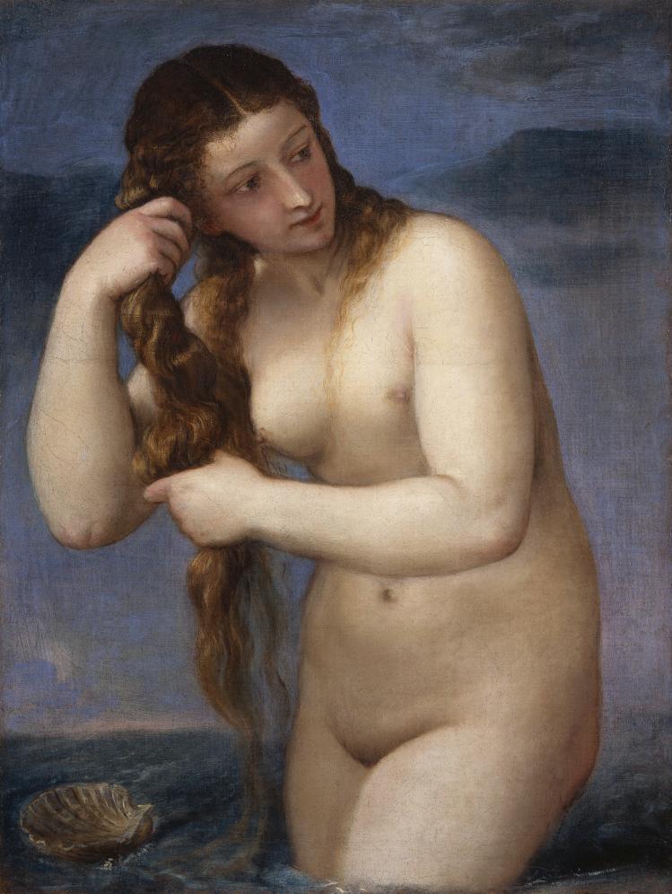 Tiziano Vecellio | Venere che sorge dal mare | Mostre Treviso