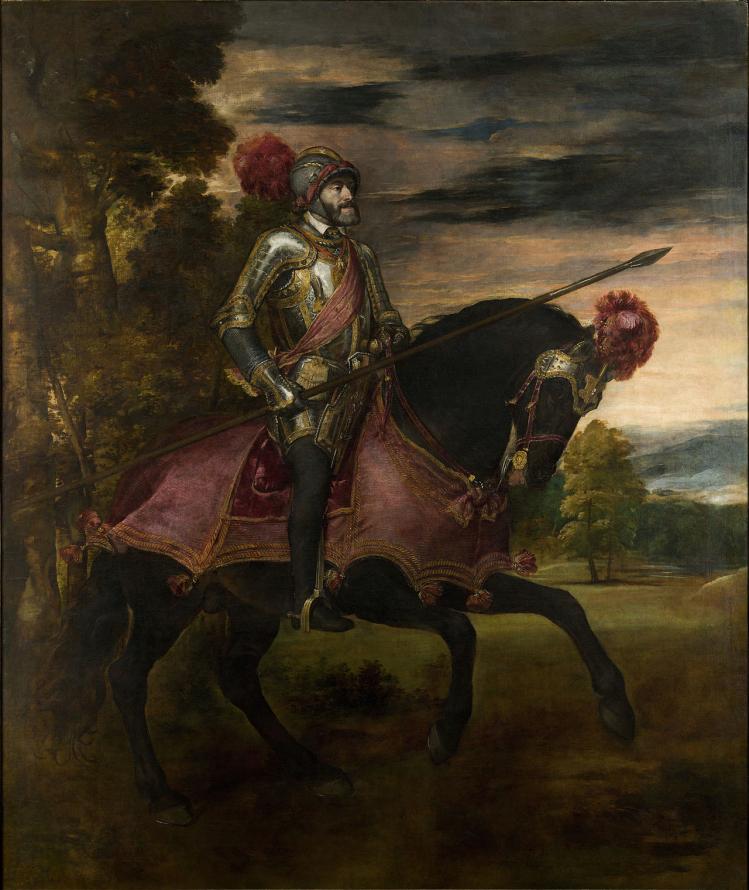 """""""Ritratto di Carlo V a cavallo"""", Tiziano Vecellio, 1548."""