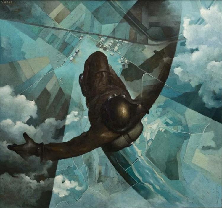 Tullio_Crali__Prima-che-si-apra-il-paracadute__1931