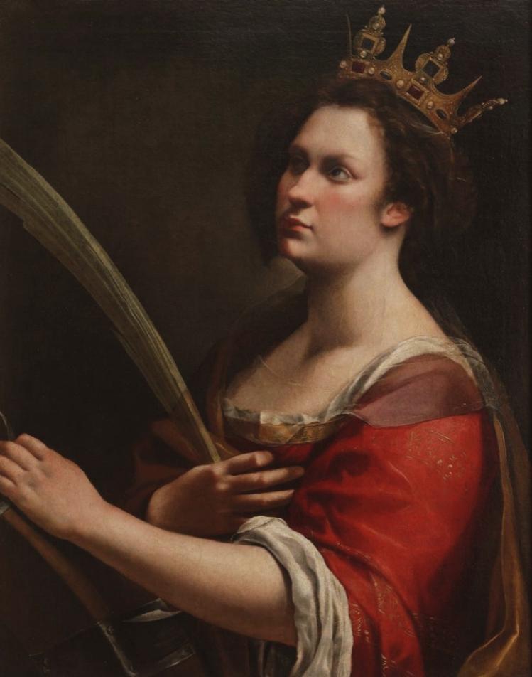 Artemisia Gentileschi, Santa Caterina d'Alessandria. Galleria degli Uffizi.