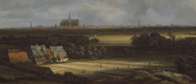 Jacob van Ruisdael, Veduta di Haarlem con campi di candeggio, 1670-1675 circa (dettaglio)