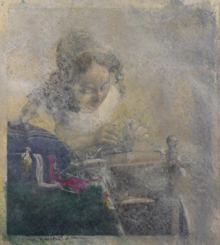 VIGNOZZI_005.jpg Piero Vignozzi, La merlettaia (d'après Vermeer), 2013