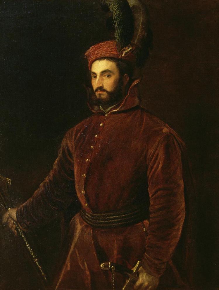 Tiziano Vecellio, Ritratto di Ippolito de' Medici (1532-1534) - Firenze, palazzo Pitti