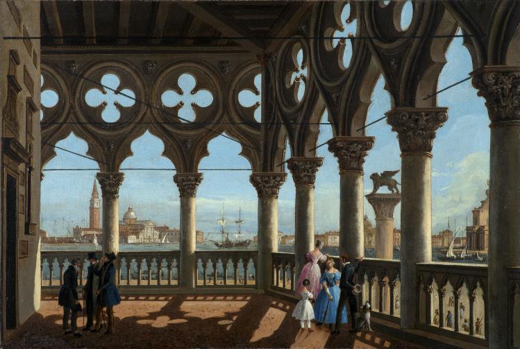 loggia di Palazzo Ducale | Vincenzo Chilone | Collezione privata