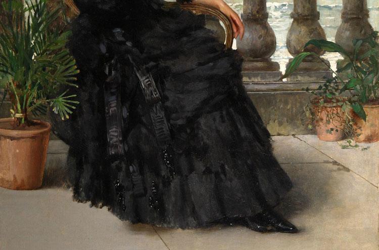 Vittorio Corcos, Signora in nero