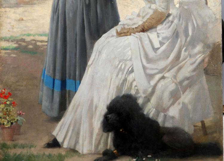 Vittorio Corcos, la visita al convento