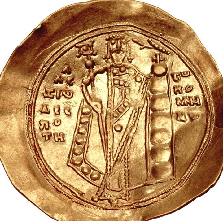 "Zecca di Costantinopoli ""Hyperperon with the effigy of Alexius I Comnenus/Hyperperon con l'effige di Alessio I Comneno"" (1081 – 1118) golden coin"