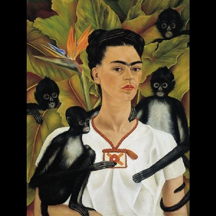 Autoritratto con scimmie, 1943. © The Vergel Foundation, Collezione Jacques and Natasha Gelman, Città del Messico, by SIAE 2014